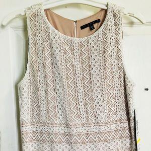 TIANA B Ivory Lace Dress Size 6 Style #849361 NWT